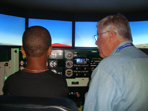 Future Aviators 2012 Renton - Jack Yager with Future Aviator  student again