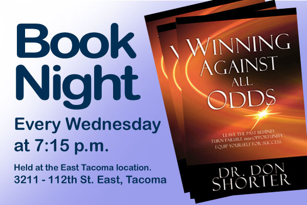 Book Night is Wed. at 7:15 p.m.