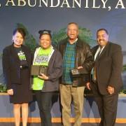 Kathy Shorter, Michele Riles, Charles Andrews & Pastor Donald Shorter